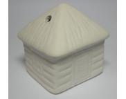 Домик керамический белый для декорирования b50мм h55мм