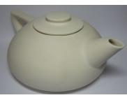 Чайник плоский керамический белый для декорирования b160мм h90мм