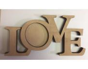 """*Фоторама для декора (фанера) """"LOVE"""" 250х125х6мм"""