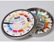 Набор акварельных красок в кюветах Pebeo (12цв+кисть) в кругл.металл. короб