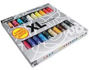 """Н-р масл.красок тонкотертых """"XL"""" в картон.коробке (20х20мл+1кисть)"""