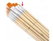 Кисть из синтетики(имитац.колонка) ПЛОСКАЯ/ручка удл.Pebeo №2
