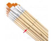 Кисть из синтетики(имитац.колонка) КРУГЛАЯ/ручка удл.Pebeo №6