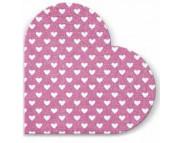 "R РАЗБИРАТЬ 21 Салфетка в форме сердечка d32см (20шт) ""Сердечки"" на розовом"