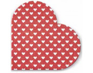"R РАЗБИРАТЬ 21 Салфетка в форме сердечка d32см (20шт) ""Сердечки"" на красном"