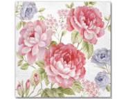 """R РАЗБИРАТЬ 27.7 Салфетка 33х33см (20шт) """"Джульетта""""(садовые цветы)"""