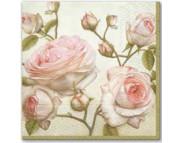 "R РАЗБИРАТЬ 27.6 Салфетка 33х33см (20шт) ""Красота розы"""