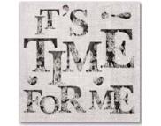 "R РАЗБИРАТЬ 12 Салфетка 33х33см (20шт) ""Надпись ""Time for Me"""