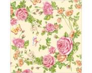 "R РАЗБИРАТЬ 27.6 Салфетка 33х33см (20шт) ""Розовый сад"""