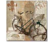 """R РАЗБИРАТЬ 20.2 Салфетка 33х33см (20шт) """"Винтажный велосипед"""""""