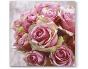 """R РАЗБИРАТЬ 27.6 Салфетка 33х33см (20шт) """"Элегантные розы"""""""