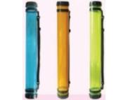 Тубус пластиковый прозрачный D.K.ART & CRAFTd 8,3cм дл.65см ОРАНЖЕВЫЙ
