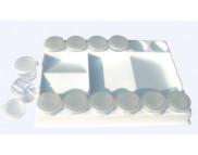 Палитра пластиковая прямоугольн. с баночками(12шт.) D.K.ART & CRAFT 20,5 х15см (18132)