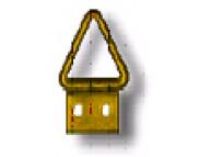 Подвеска для рам малая треугольная -1см №0 с узкой пластиной   /0200-R000 F01M