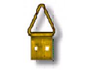 Подвеска для рам малая треугольная -1см №0  /0200-0000-F01M