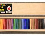 Набор цветной пастели Подольск в дер.коробке 30цв