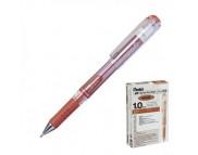 Ручка гелевая Pentel Hybrid gel Grip DX метал.наконечн.1мм БРОНЗА