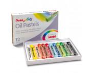 Набор пастели масл. Pentel Arts в картон.упак.12цв