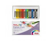Набор пастели для ткани Pentel FabricFun Pastels 15цв