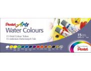 Набор акварельных красок в тубах Pentel Water Colours 5млх15цв