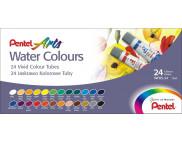 Набор акварельных красок в тубах Pentel Water Colours 5млх24цв