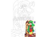 20х30 Холст на ДВП  ХЛОПОК, акрил.грунт, с рисунк.под раскраску Сказочные герои №3 Кот в сапогах