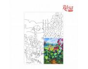 30х40 Холст на ДВП  ХЛОПОК, акрил.грунт, с рисунк.под раскраску Пейзаж №17