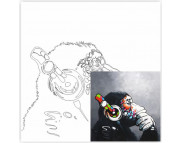 30х30 Холст на ДВП  ХЛОПОК, акрил.грунт, с рисунк.под раскраску Music