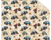 "RR п Картон дизайнерский двусторонний ""Красочный мир автомобилей# 300г 20х30см мотив 01 АВТОМОБИЛИ НА БЕЖЕВОМ"