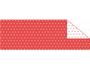"RR п Картон дизайнерский двусторонний ""Пунктир Мини"" 300г 20х30см КРАСНЫЙ"