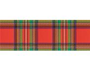 R п Картон дизайнерский цветной 300г 49,5х68см ШОТЛАНСКАЯ КЛЕТКА КРАСНО-ЗЕЛЕНАЯ