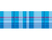 """R п Картон дизайнерский двусторонний  """"Vichy"""" 300г 49,5x68см  мотив КЛЕТКА ГОЛУБОЙ"""