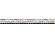 Лента бумажная ажурная 17ммх200см (самоклейка) ОРНАМЕНТ ЦВЕТЫ И БАБОЧКИ