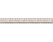 Лента бумажная ажурная 17ммх200см (самоклейка) КРАСНО-ЗЕЛЕНЫЕ ЦВЕТОЧКИ