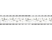Лента бумажная ажурная 35ммх200см (самоклейка) ЗОЛОТЫЕ БАБОЧКИ