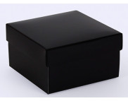 """Бельё картонное: Коробка """"Премиум"""" № М0003-о17  90х90х50мм ЧЕРНАЯ;"""