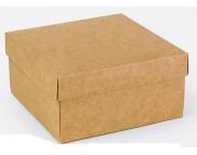 """Бельё картонное: Коробка """"Подарочная"""" № М0027-о13 140х140х70мм  КРАФТ;"""