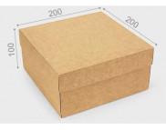 """Бельё картонное: Коробка """"Киев"""" № М0053-о4  200х200х100мм КРАФТ"""