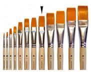 Кисть из синтетики(имитац.колонка) ПЛОСКАЯ/ручка коротк.неокраш.АртАвангард №16