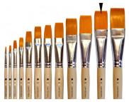 Кисть из синтетики(имитац.колонка) ПЛОСКАЯ/ручка коротк.неокраш.АртАвангард №22