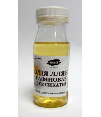 Масло льняное рафинир.без сиккатива 125мл