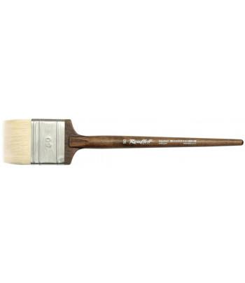 Кисть из волоса козы плоская/ручка коротк.круглая ореховая флейц Roubloff №35