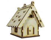 Игрушка для декора (дерево) ДОМИК КУКОЛЬНЫЙ-КЛАСС №16 открыващийся 80х100х100мм