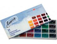 """*Набор акварельных красок в кюветах """"Ладога"""" 24цв картон.упак."""